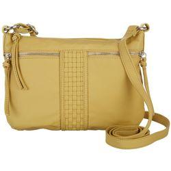 Bueno Woven Panel Crossbody Handbag