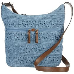 Bueno Solid Crochet Shoulder Handbag