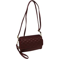 Quilted Front Flap Multi-Function Handbag