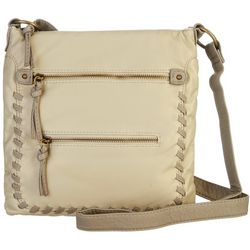 Bueno Whipstitch Zip Pocket Crossbody Handbag