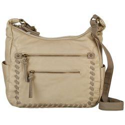 Bueno Whipstitch Zip Pocket Crossbody Handbag