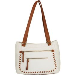 Bueno Pearl Washed Whipstitch Tote Handbag