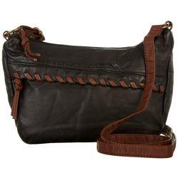 Bueno Washed Hidden Zipper Whipstitch Crossbody Handbag