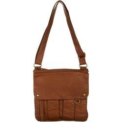 Bueno Washed Exterior Flap Multi Pocket Crossbody Handbag