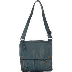 Bueno Washed Exterior Flap Multi Pocket Crossbody Handbag