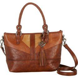 Bueno Vintage Look Satchel Handbag