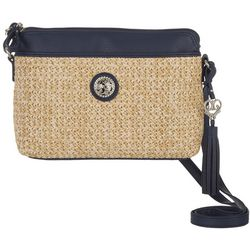 Bella Straw Crossbody Handbag