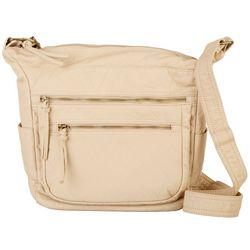 Bueno Vinatage Solid Double Zip Handbag