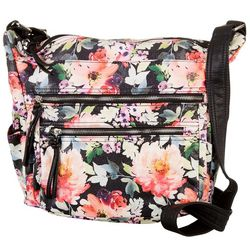 Vintage Floral Double Zip Handbag