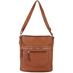 Bueno North/South Triple Compartment Crossbody Handbag