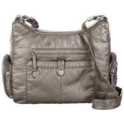Large Cargo Pocket Solid Crossbody Handbag