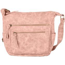 Bueno Washed Antique Multi Zip Crossbody Handbag