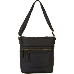 Bueno North/South Double Zip  Crossbody Handbag