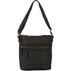 Bueno North/South Double Zip  Crossbody Handbag