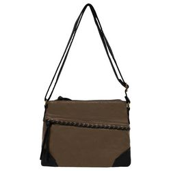Bueno Washed Contrast Stitch Crossbody Handbag