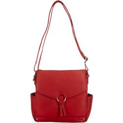 Great American Leather Covered Ring Shoulder Handbag
