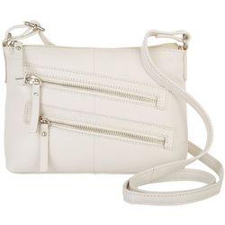 Great American Leather Tuscany Double Zip Crossbody Handbag
