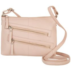 Great American Leather Tuscany Double Zip Crossbody Handbag