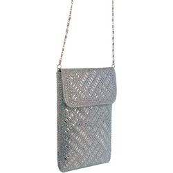 D'Margeaux Silver Tone Cell Phone Crossbody Handbag
