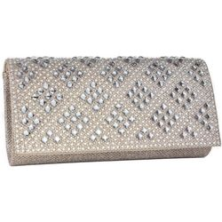 D'Margeaux Diamond Pattern Rhinestones Crossbody Handbag