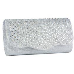 D'Margeaux Rhinestone Silver Tone Handbag