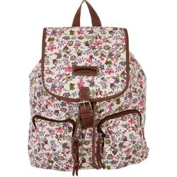 Unionbay Floral Print Two Pocket Flap Backpack