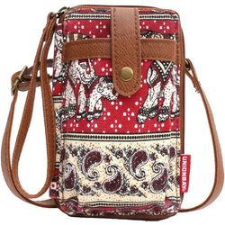 Unionbay Elephant Paisley Cell Phone Crossbody Wallet