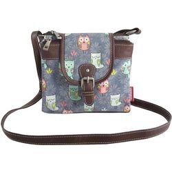 Unionbay Owl Print Flap Crossbody Handbag