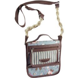 Unionbay Floral & Stripes Crossbody Handbag