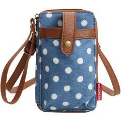 Unionbay Polka Dot Cell Phone Holder Crossbody Handbag