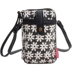 Unionbay Floral Print Cell Phone Holder Crossbody Handbag