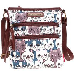 Unionbay Cat Print Crossbody Handbag