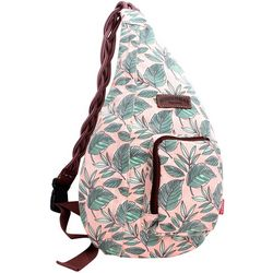 Unionbay Leaf Print Sling Backpack