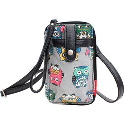 Unionbay Owl Print Cell Phone Holder Crossbody Handbag