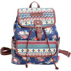 Unionbay Floral Print Flap Front Pocket Backpack