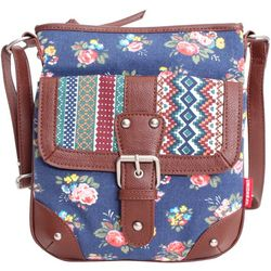 Unionbay Floral & Vertical Stripes Crossbody Handbag