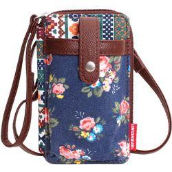 Unionbay Aztec & Floral Print Crossbody Handbag