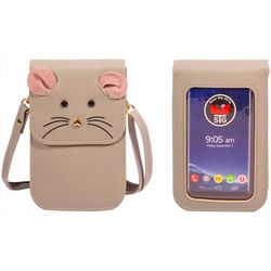 Save The Girls Fun Mouse Cell Phone Handbag