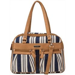 MultiSac Malibu Striped Satchel Handbag
