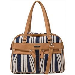 Malibu Striped Satchel Handbag