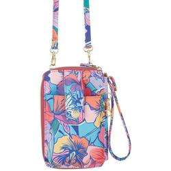Jacqui Tropical Floral Hands Free Crossbody Wallet