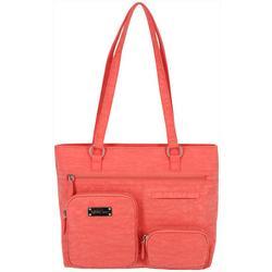 Quincy Solid Washable Tote Handbag