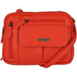 Zippy Textured Crossbody Handbag