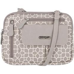 Zippy Geometric Print Crossbody Handbag