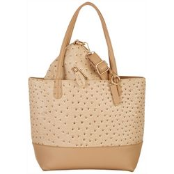 Coral Bay Ostrich Texture Bag In Bag Tote