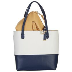 Coral Bay Colorblock Bag In Bag Tote Handbag