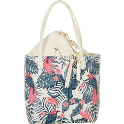 Coral Bay Tropical Bird Bag In Bag Tote Handbag