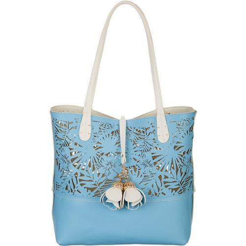 Coral Bay Floral Cutout Bag In Bag Tote Handbag