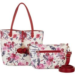 Coral Bay Rose Print Bag In Bag Tote Handbag