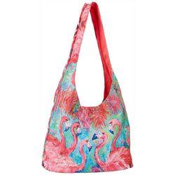 Leoma Lovegrove Flamingo Print Hobo Bag